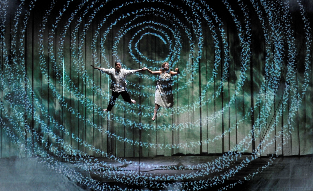 Scene from Mozart's The Magic Flute at ENO by Robbie Jack