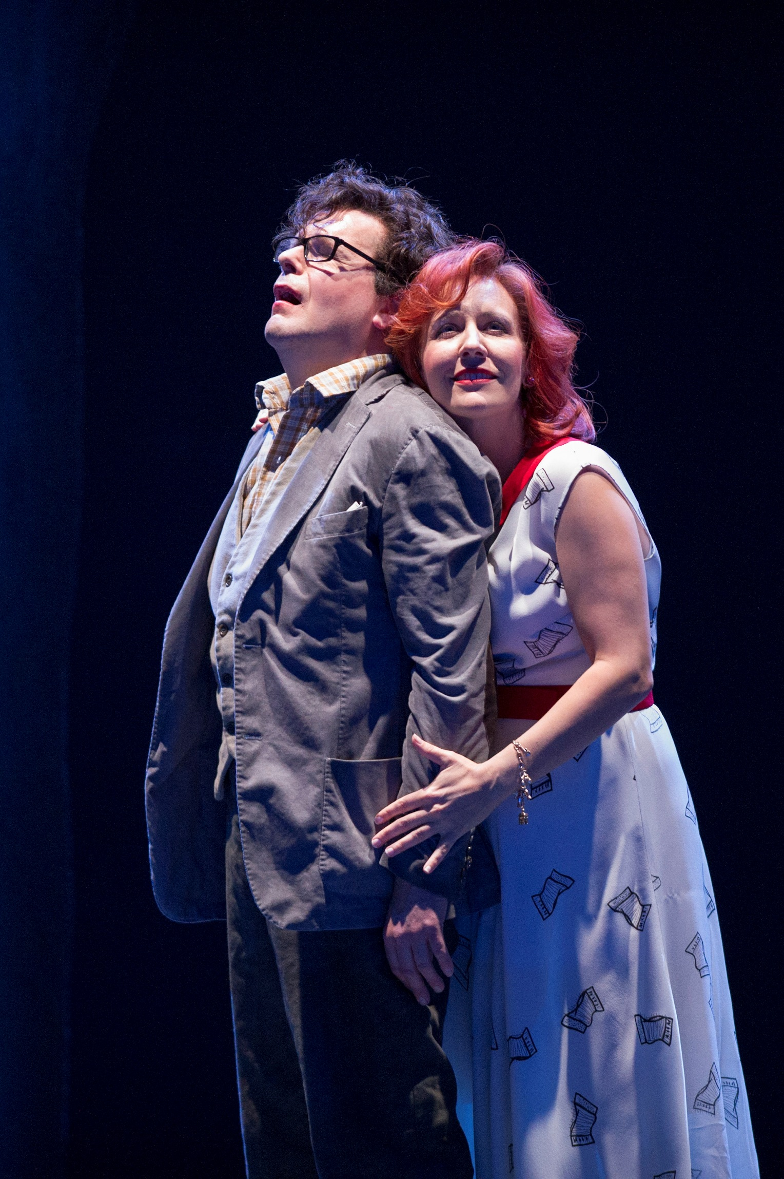 Peter Hoare as Michel and Julia Sporsen as Julietta in Richard Jones's ENO production
