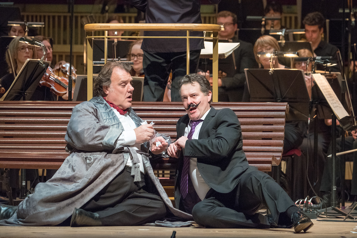 Bryn Terfel and Mark Stone in RLPO Falstaff