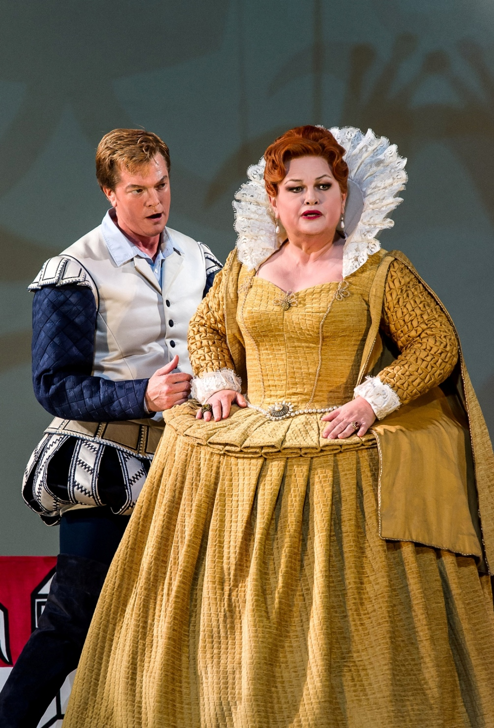 Toby Spence and Susan Bullock in the Royal Opera Gloriana