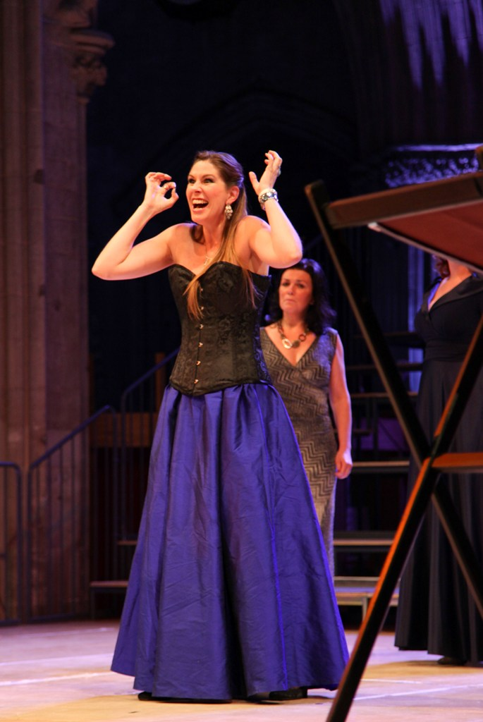 Anna Dennis as Pamina in Lichfield Cathedral's Magic Flute