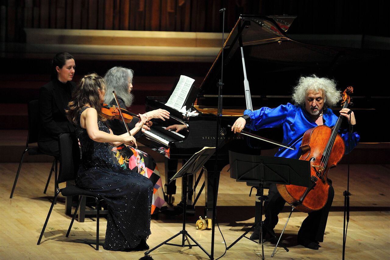 Argerich, Jansen and Maisky in trio