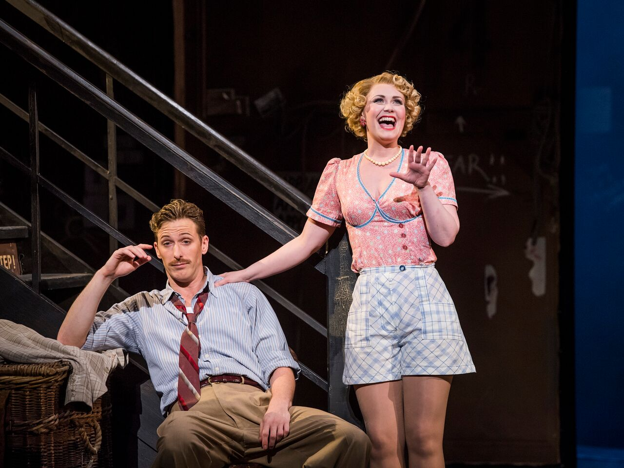 Zoe Rainey and Alan Burkitt in Kiss Me, Kate