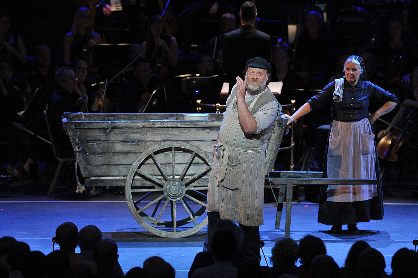 Bryn Terfel and Janet Fullerlove in Proms Fiddler on the Roof