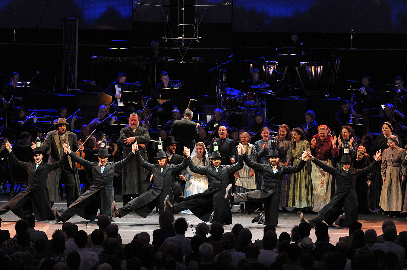 Dance routine in Proms Fiddler on the Roof