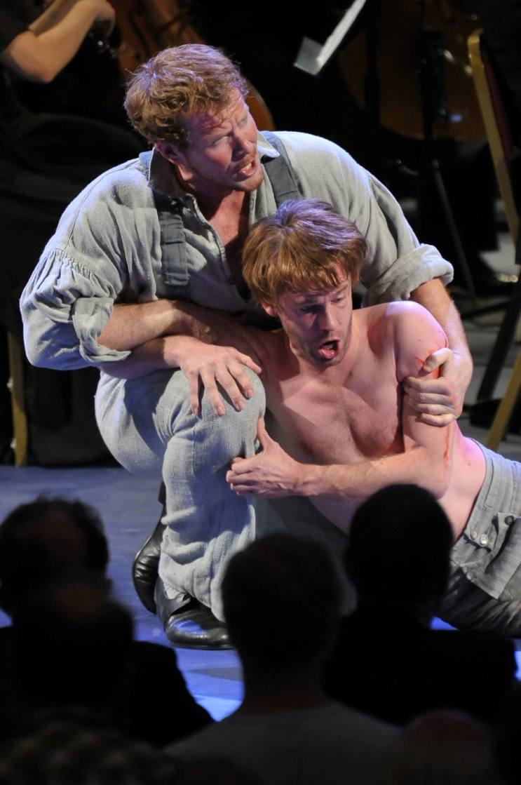 Duncan Rock and Peter Gijsbertsen in the Proms Billy Budd by Chris Christodoulou