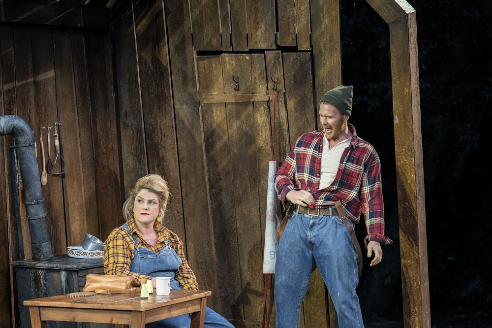 Rosie Aldridge and Duncan Rock as Hansel and Gretel's mother and father
