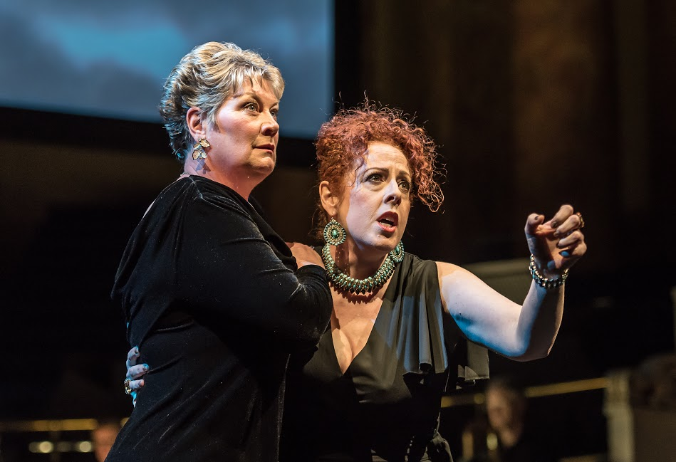 Yvonne Howard as Fricka and Giselle Allen as Freia in Opera North Rheingold