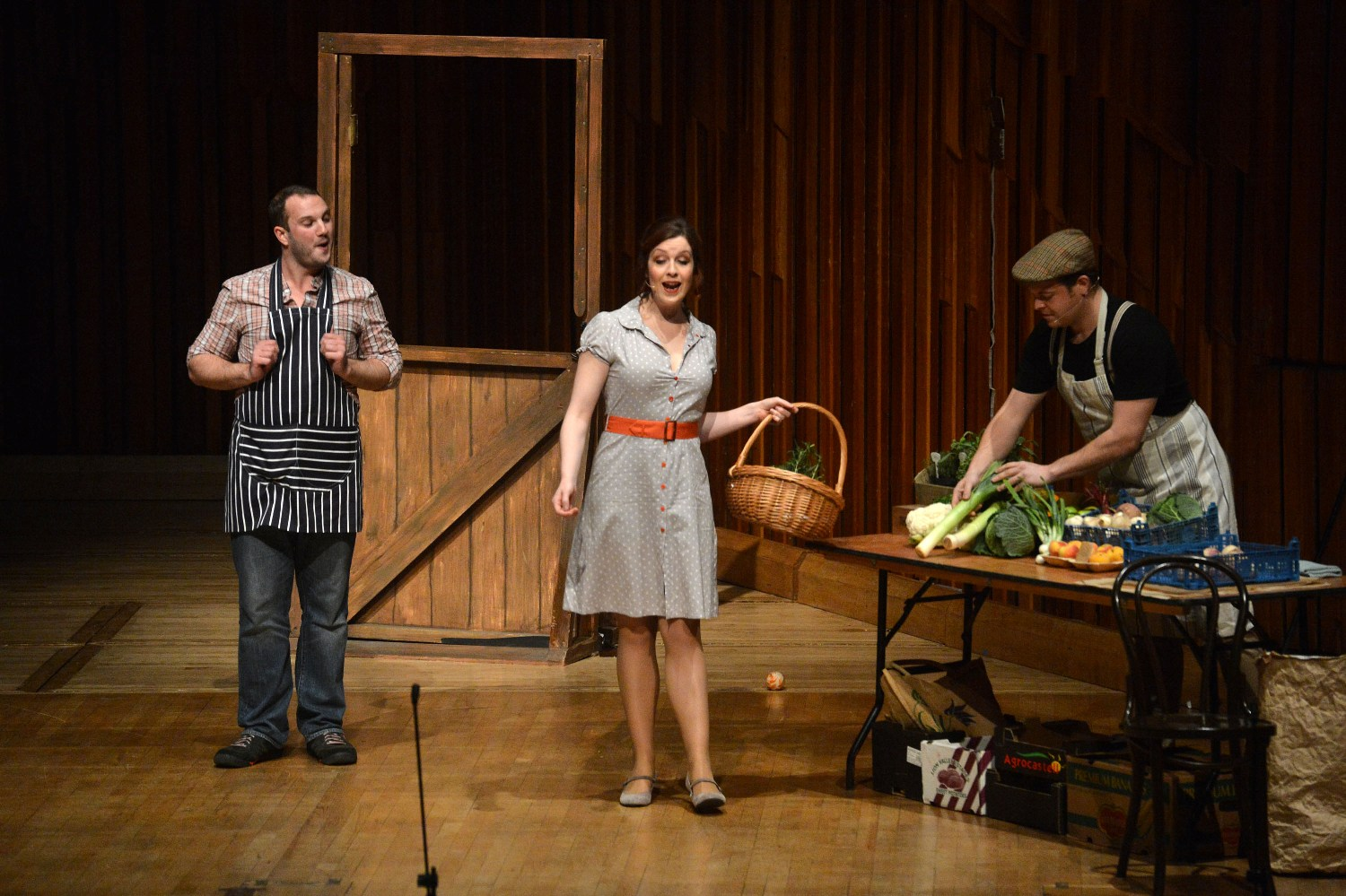 Marcus Farnsworth, Kitty Whately and Andrew Staples in the Barbican Albert Herring