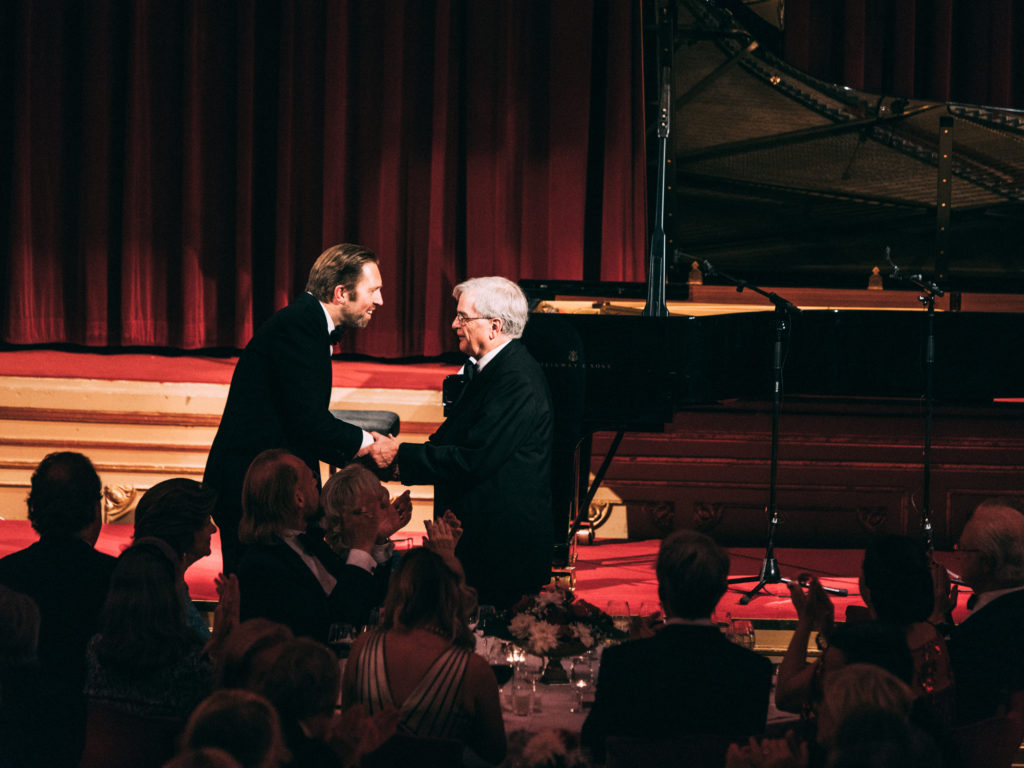 Andsnes and Reich at the awards supper