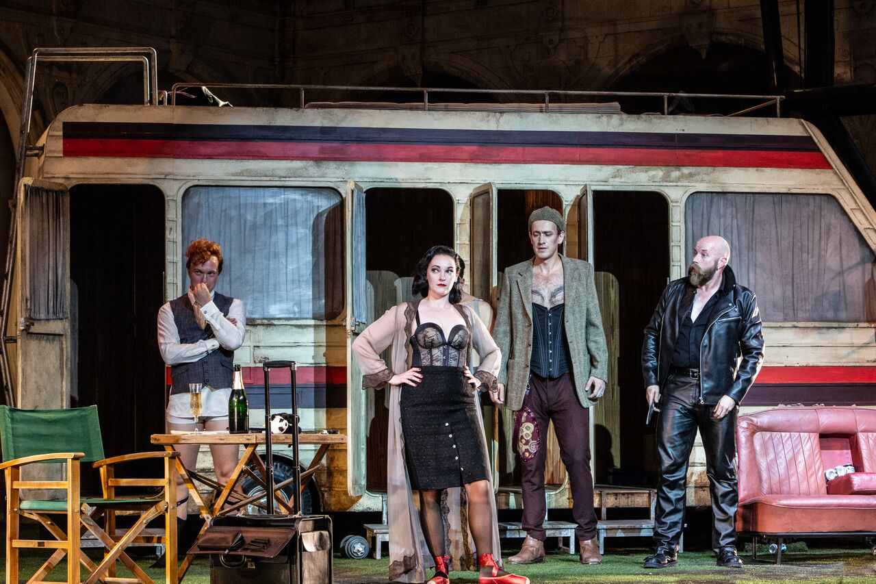Scene from the Prologue of Ariadne auf Nazos at Opera Holland Park