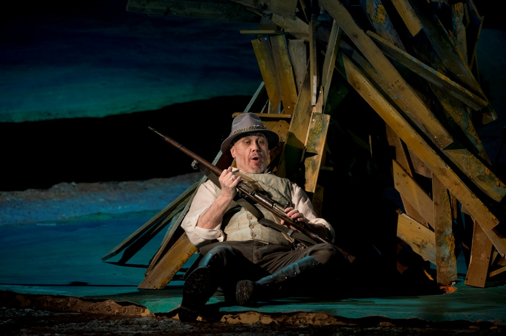 Sergei Leiferkus as the Forester in the Glyndebourne production of The Cunning Little Vixen