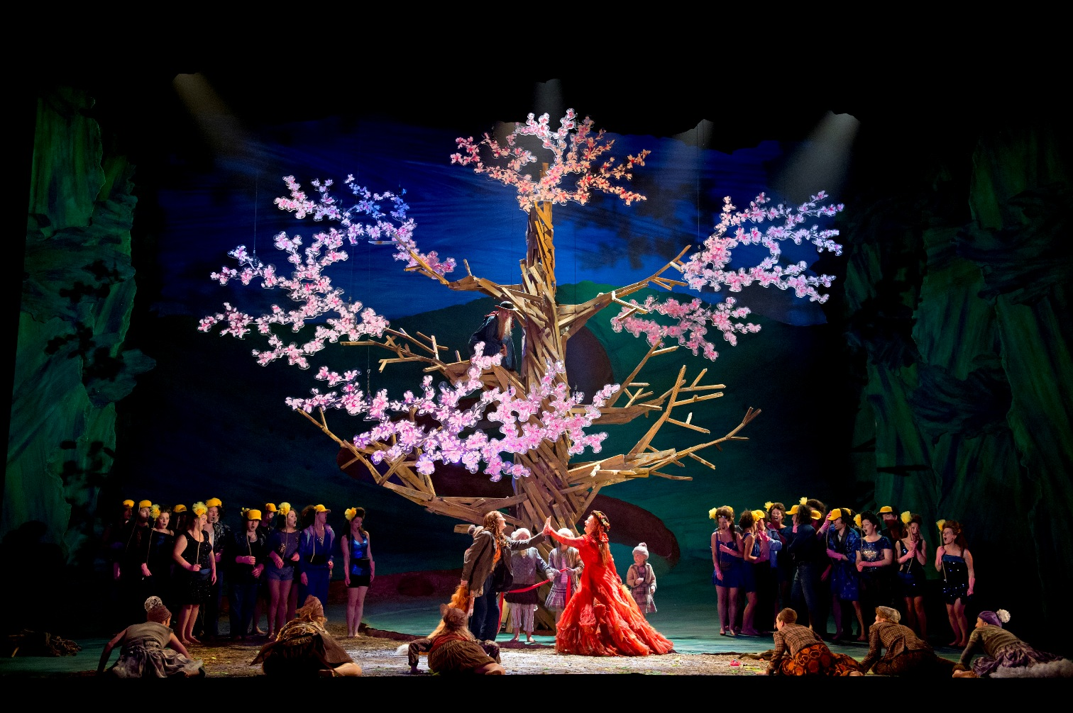 The wedding scene in the Glyndebourne production of The Cunning Little Vixen