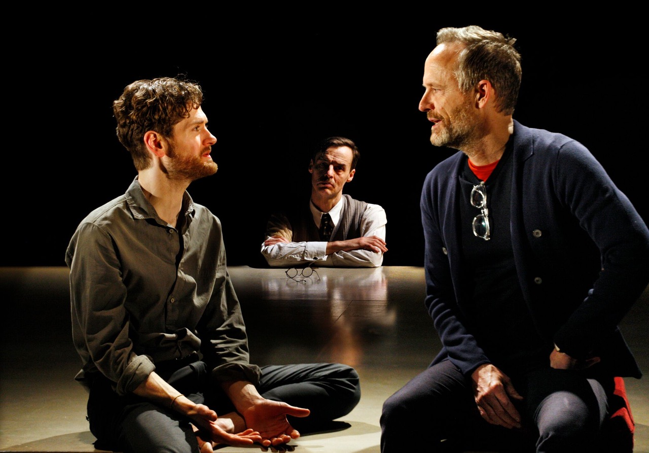 Kyle Soller, Paul Hilton and John Benjamin Hickey in The Inheritance at the Young Vic