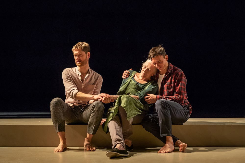 Kyle Soller, Vanessa Redgrave and Samuel H Levine in The Inheritance