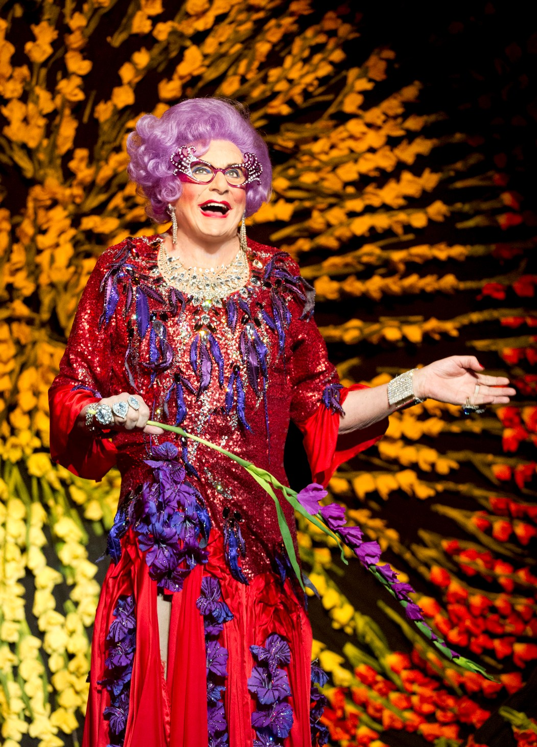 Floral finale to Dame Edna's farewell by Alastair Muir