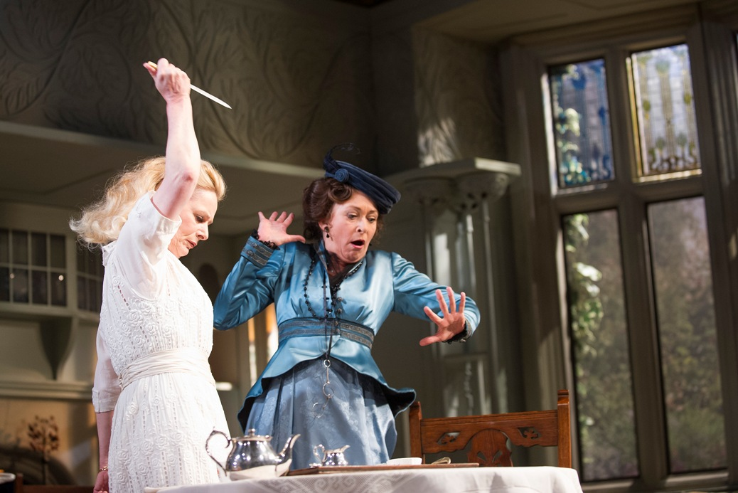 Christine Kavanagh and Cherie Lunghi in The Importance of Being Earnest