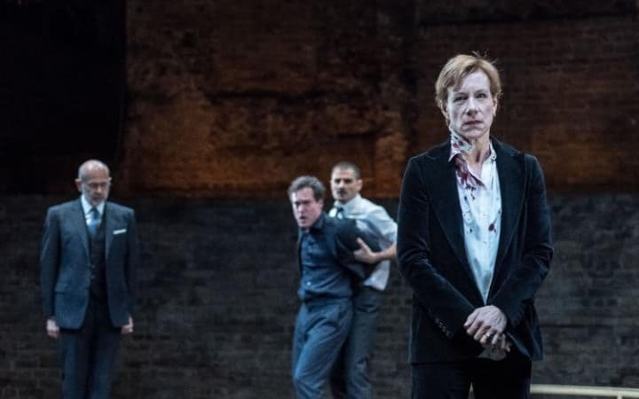 Juliet Stephenson as Elizabeth in Mary Stuart at the Almeida