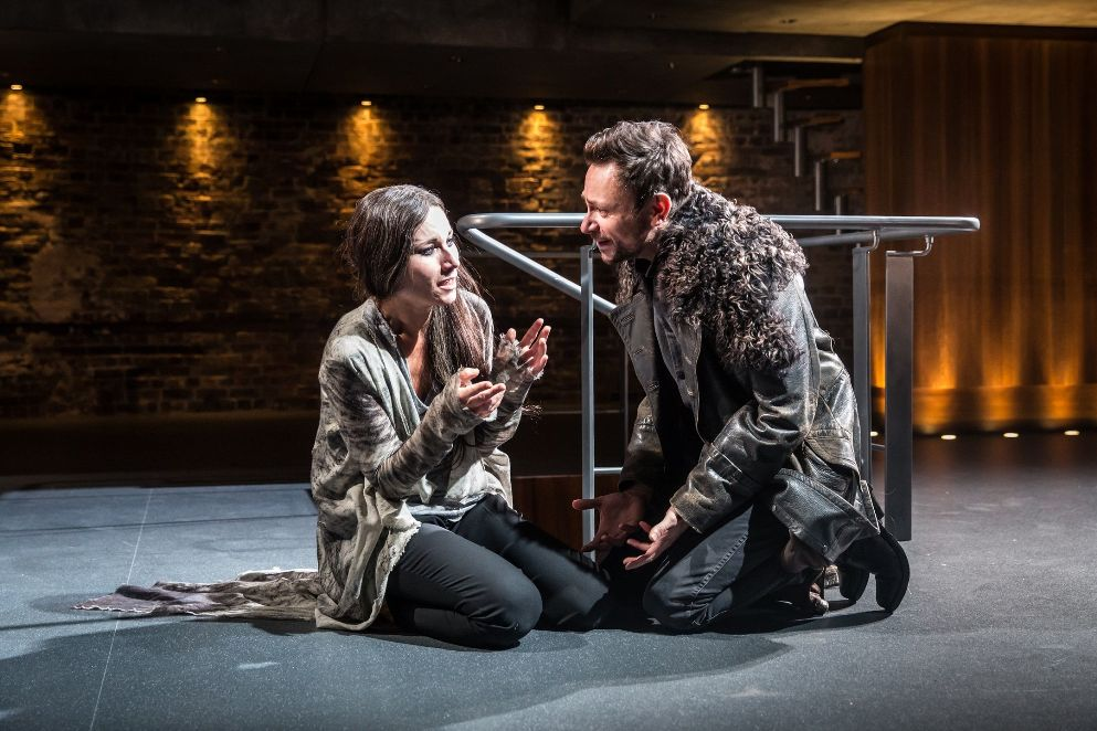 Kate Fleetwood and Justin Salinger as Medea and Jason