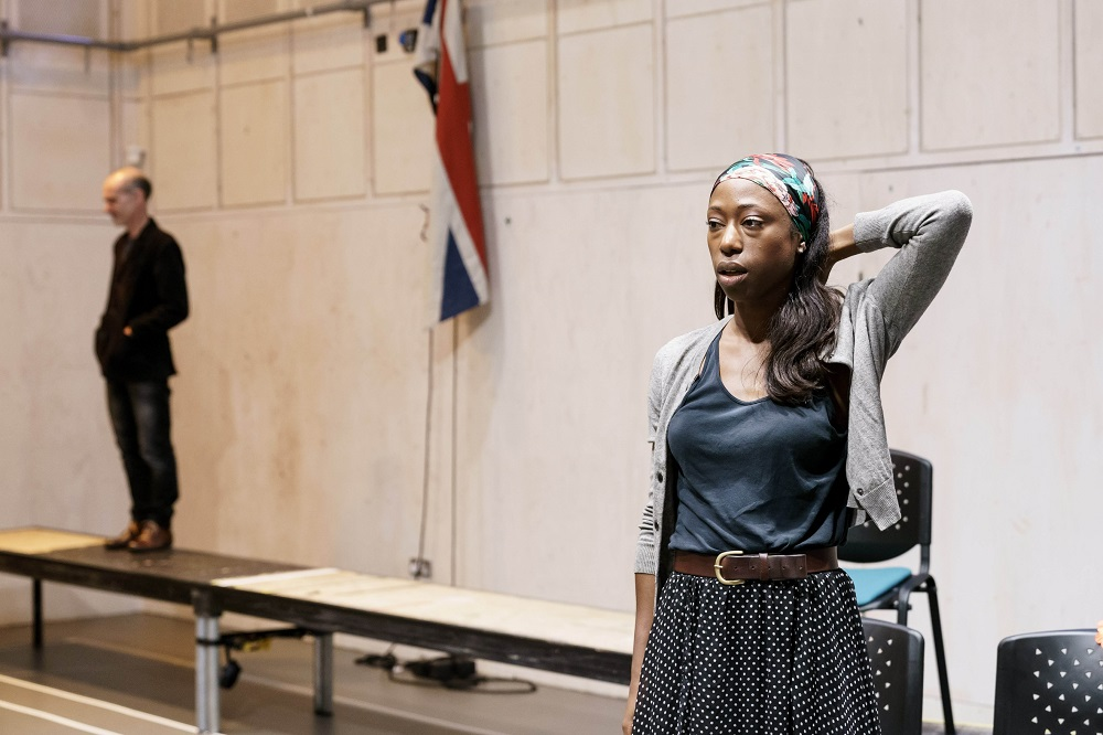 Nikki Amuka-Bird with Finbar Lynch, the Lady from the Sea