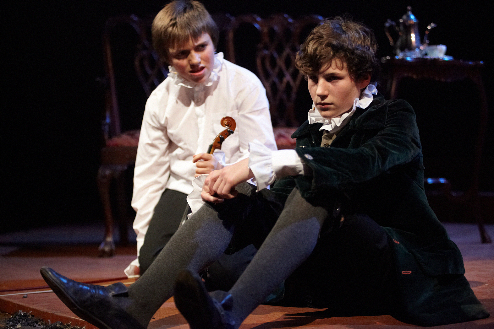Max Macmillan (young Thomas) and George Clark (young Alexander)