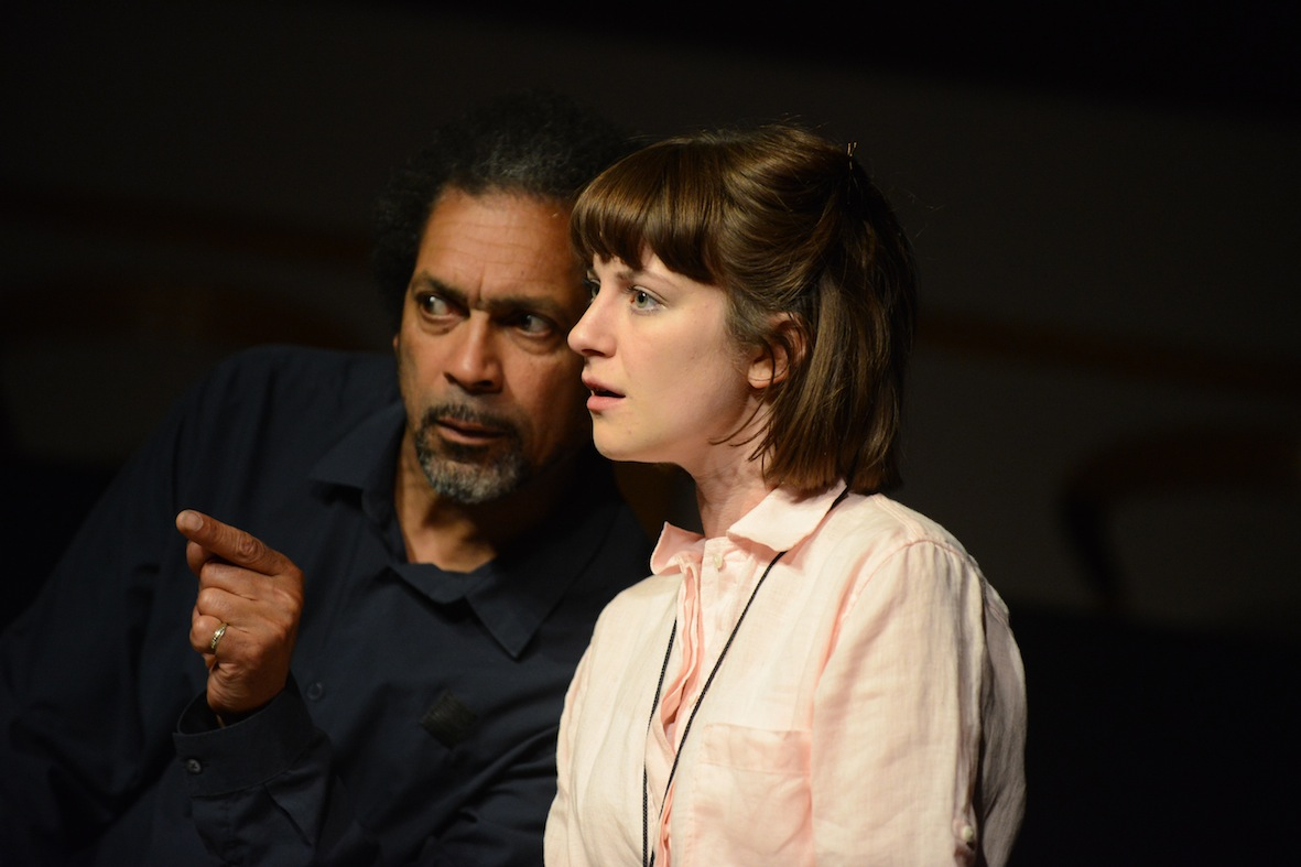 Ben Onwukwe and Lydia Larson in Caryl Churchill's The After-Dinner Joke