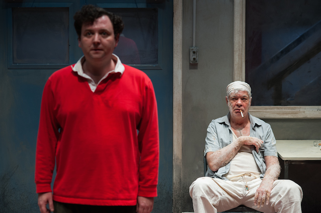 John Wark and Matthew Kelly in Toast at the Park Theatre