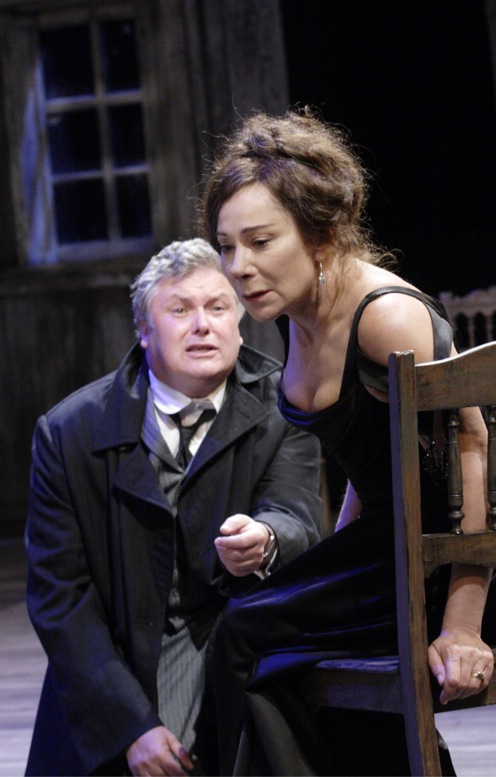 Conleth Hill and Zoe Wanamaker in the Cherry Orchard