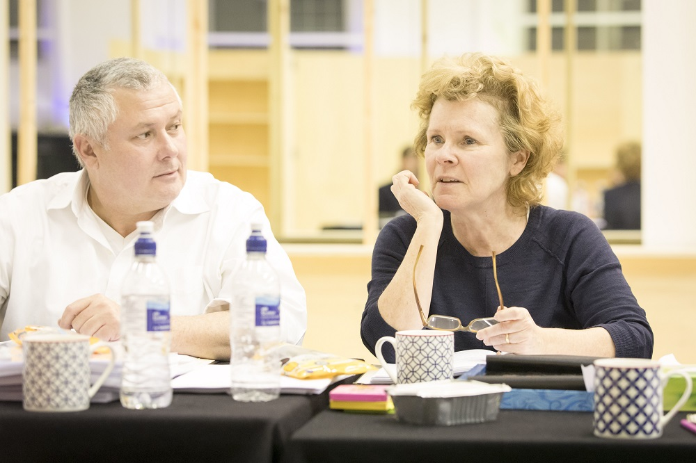 Conleth Hill and Imelda Staunton in Who's Afraid of Virginia Woolf?