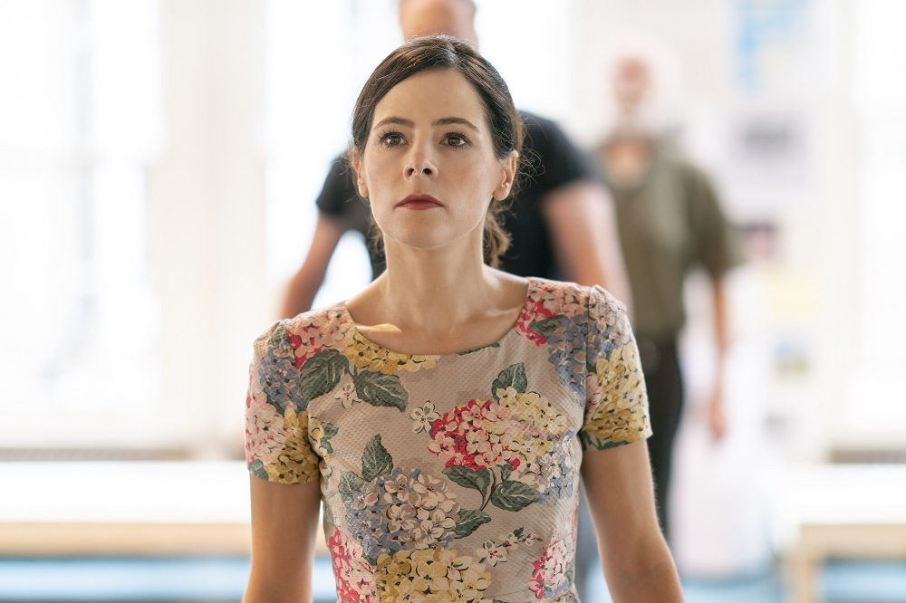 Elaine Cassidy rehearsing Aristocrats. Photo by Johan Persson