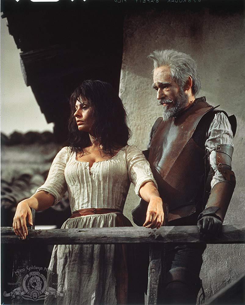 Peter O'Toole and Sophia Loren in Man of la Mancha