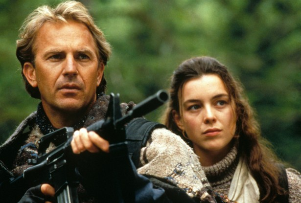 Kevin Costner and Olivia Williams in The Postman