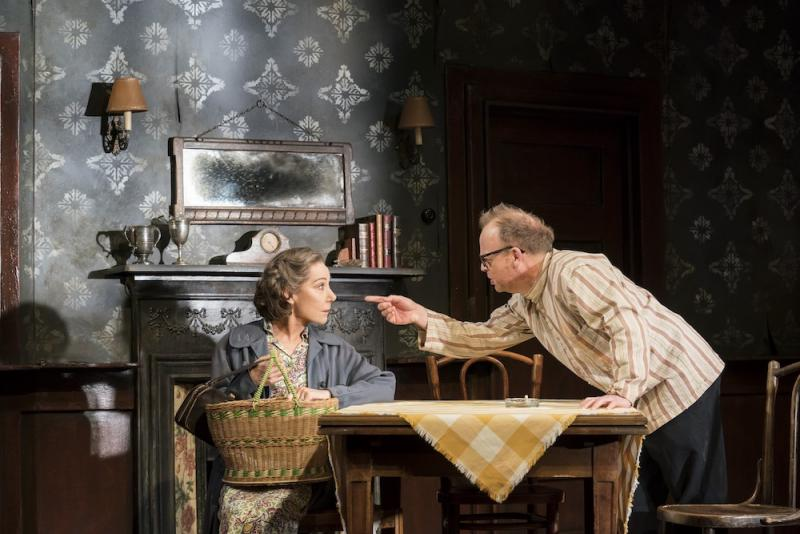 Zoe Wanamaker and Toby Jones in The Birthday Party. Photo by Johan Persson