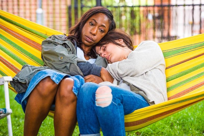 Natalie (Nikki Amuka-Bird, left) and Leah (Phoebe Fox)