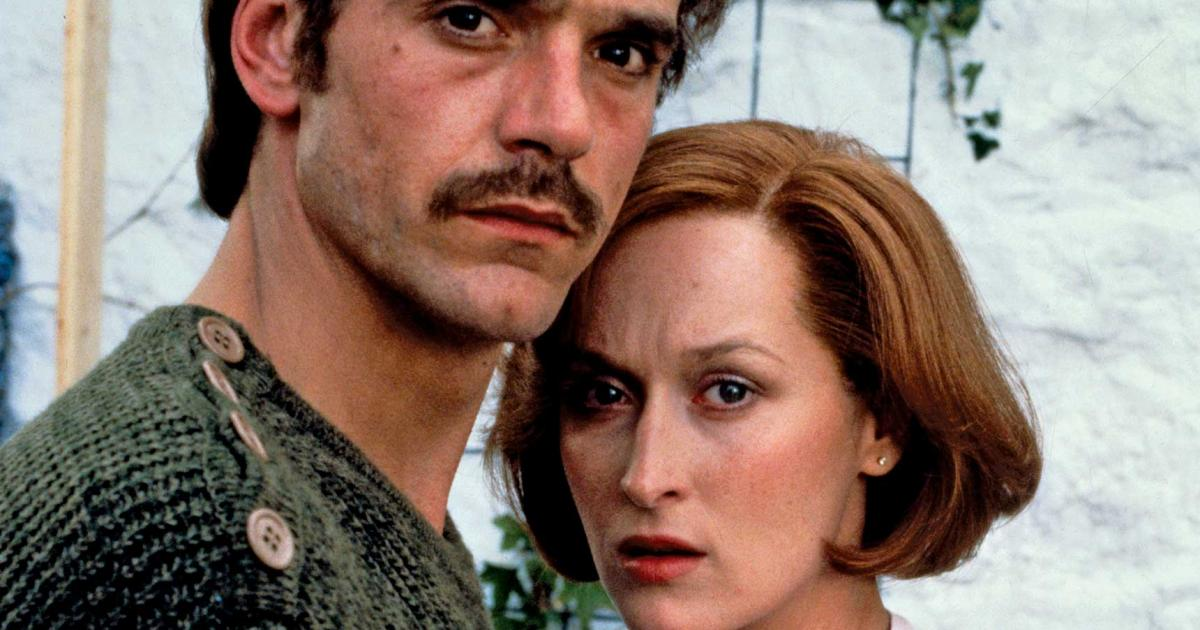 Jeremy Irons and Meryl Streep in The French Lieutenant's Woman