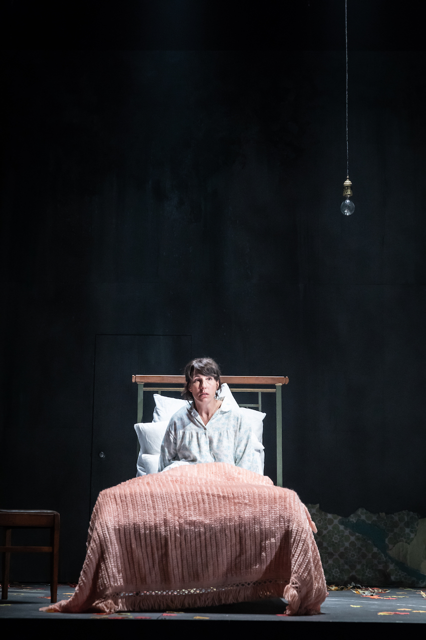 Tamsin Greig in Pinter Three, photo by Marc Brenner