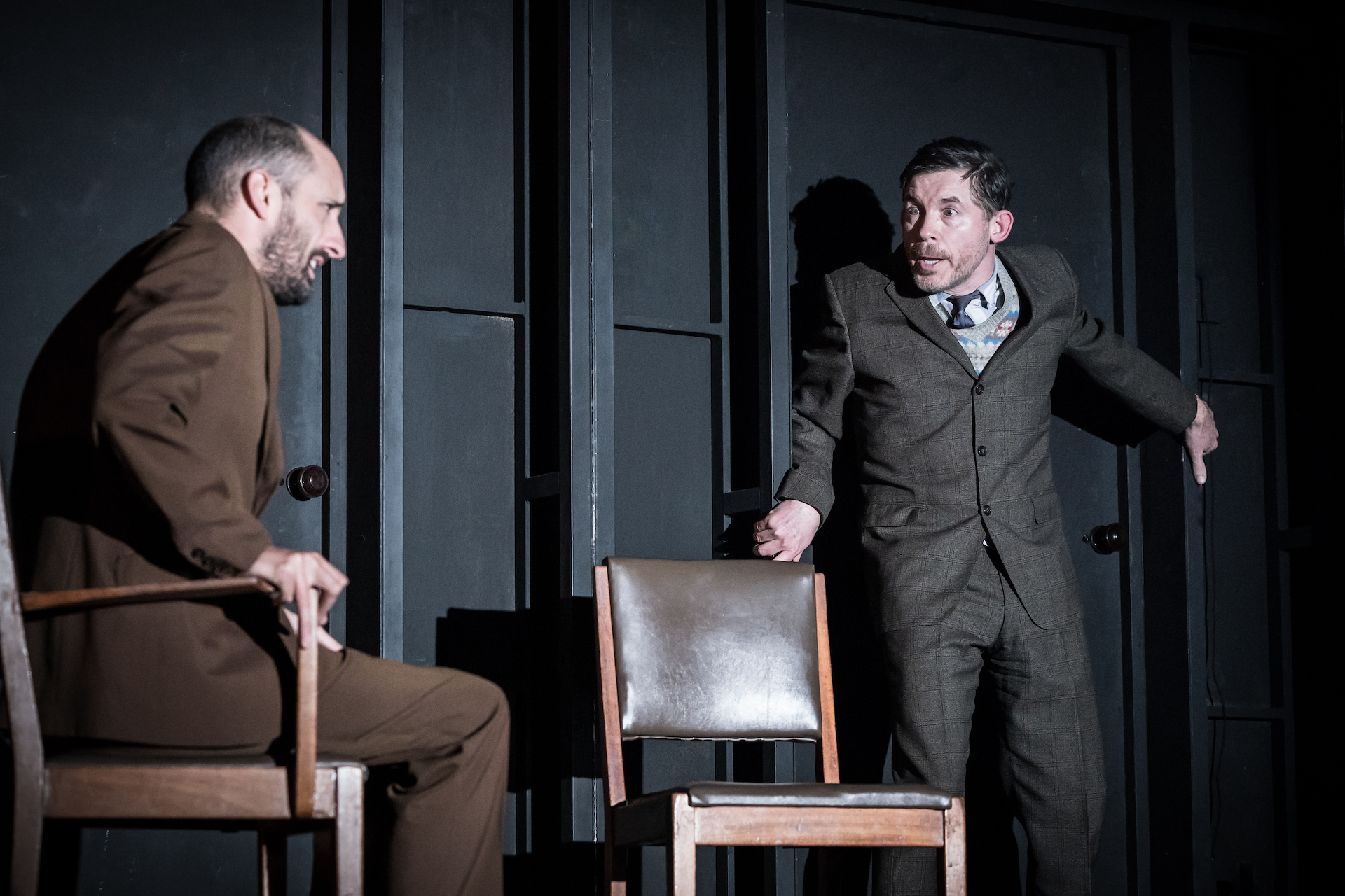 Tom Edden and Lee Evans in Pinter Three
