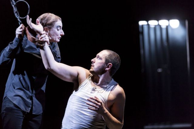 Amanda Lawrence and Bertie Carvel in Damned by Despair