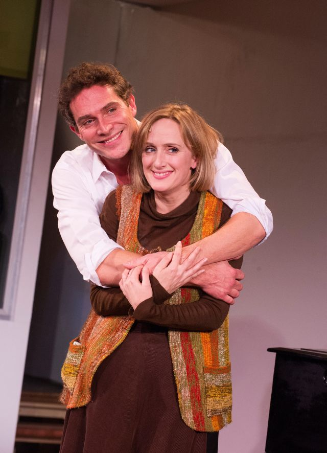 Mark Umbers and Jenna Russell in Merrily We Roll Along