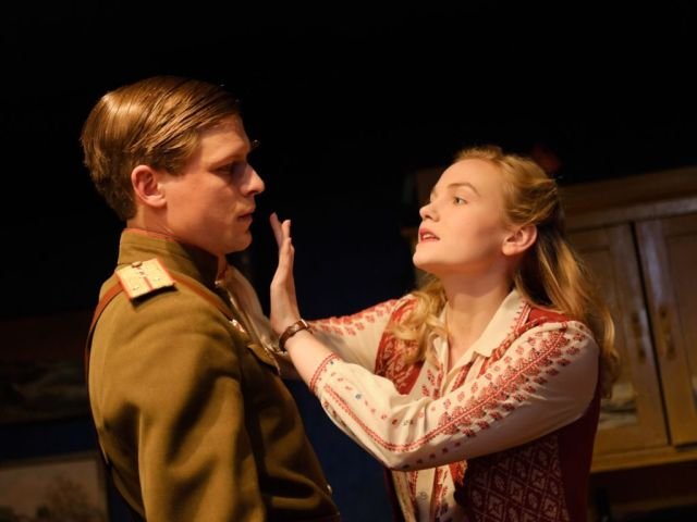 Max Bennett and Joanna Vanderham in the Promise