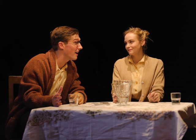 Gwilym Lee and Joanna Vanderham in The Promise
