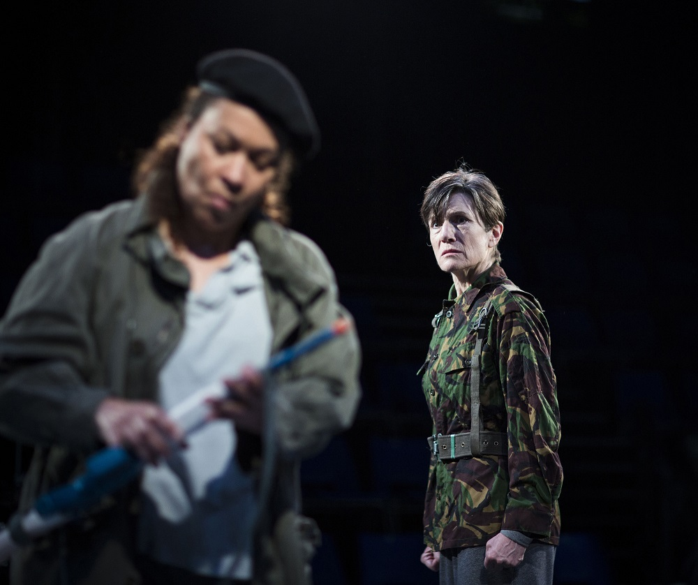 Harriet Walter and Martina Laird in Julius Caesar