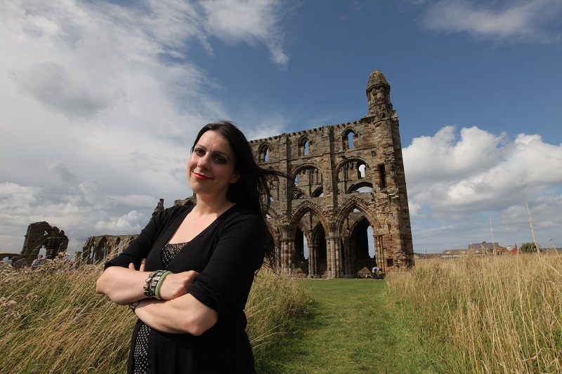 The medieval ruins of Whitby Abbey are built on the sit of a Celtic monastery