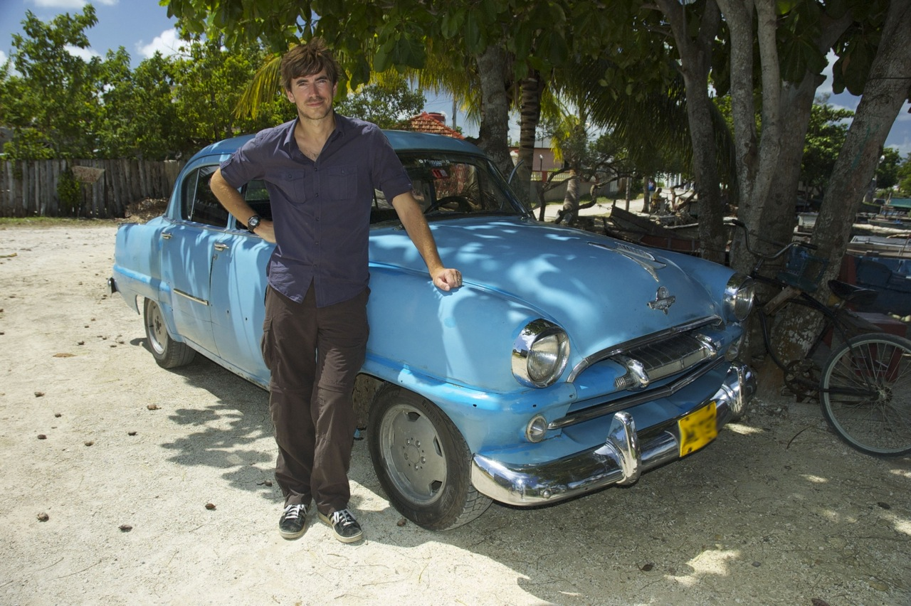 Simon Reeve at the Bay of Pigs