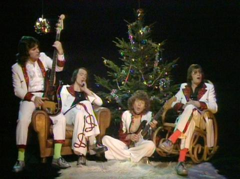"Still from Mud's ""Lonely This Christmas"" video"