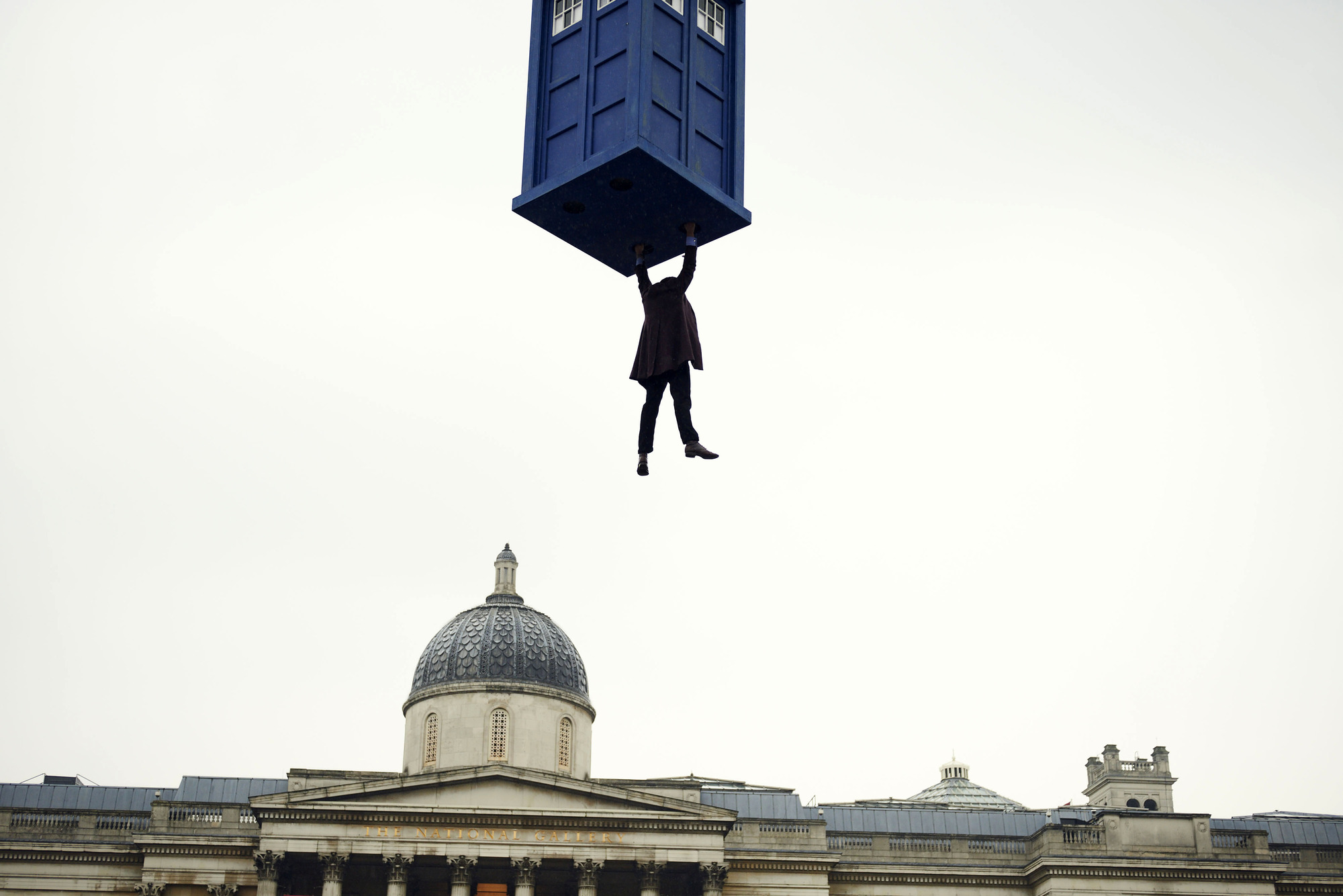 The Doctor (Matt Smith) and kidnapped TARDIS in The Day of the Doctor