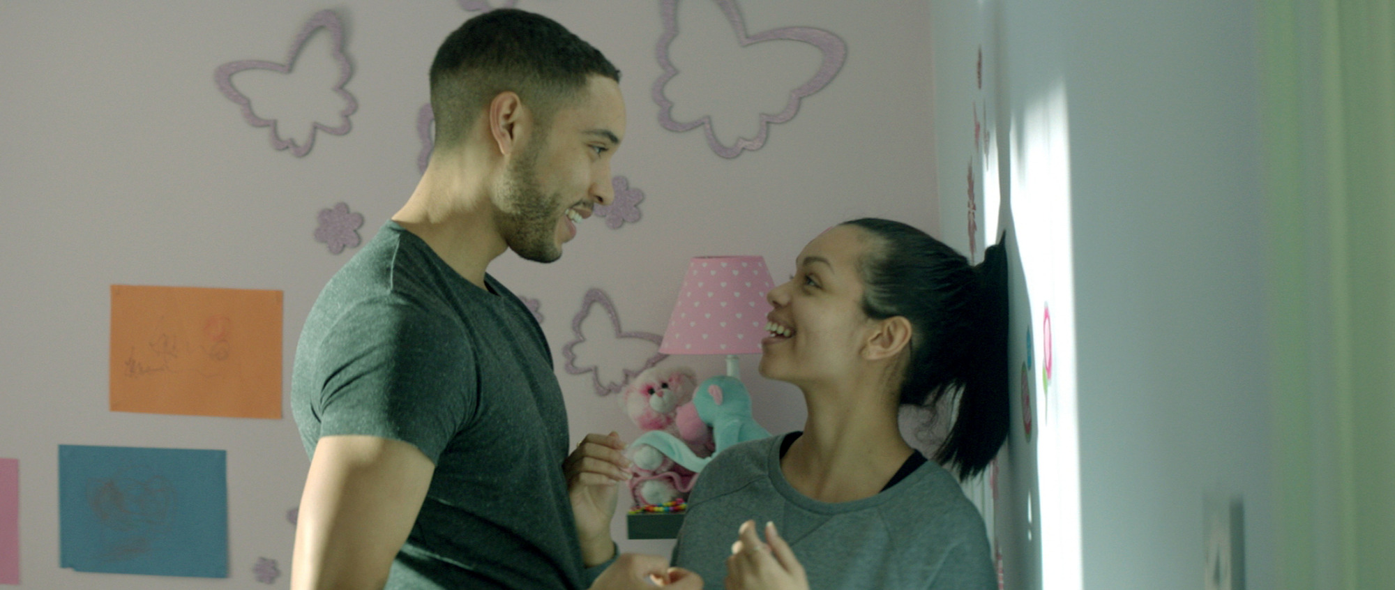 Royce Pierreson as Reece and Georgina Campbell as Ashley in Murdered By My Boyfriend