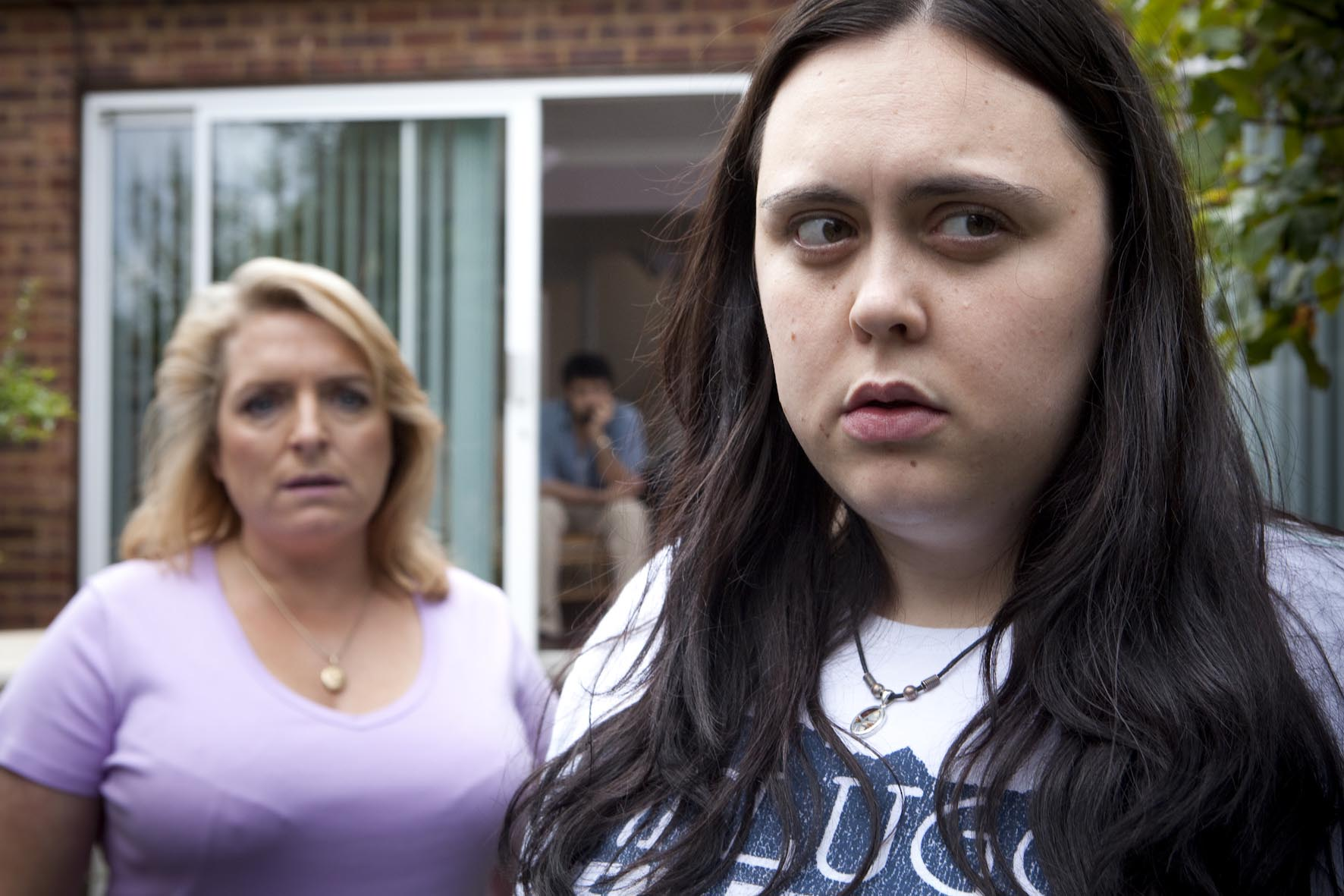 Claire Rushbrook and Sharon Rooney in My Mad Fat Diary