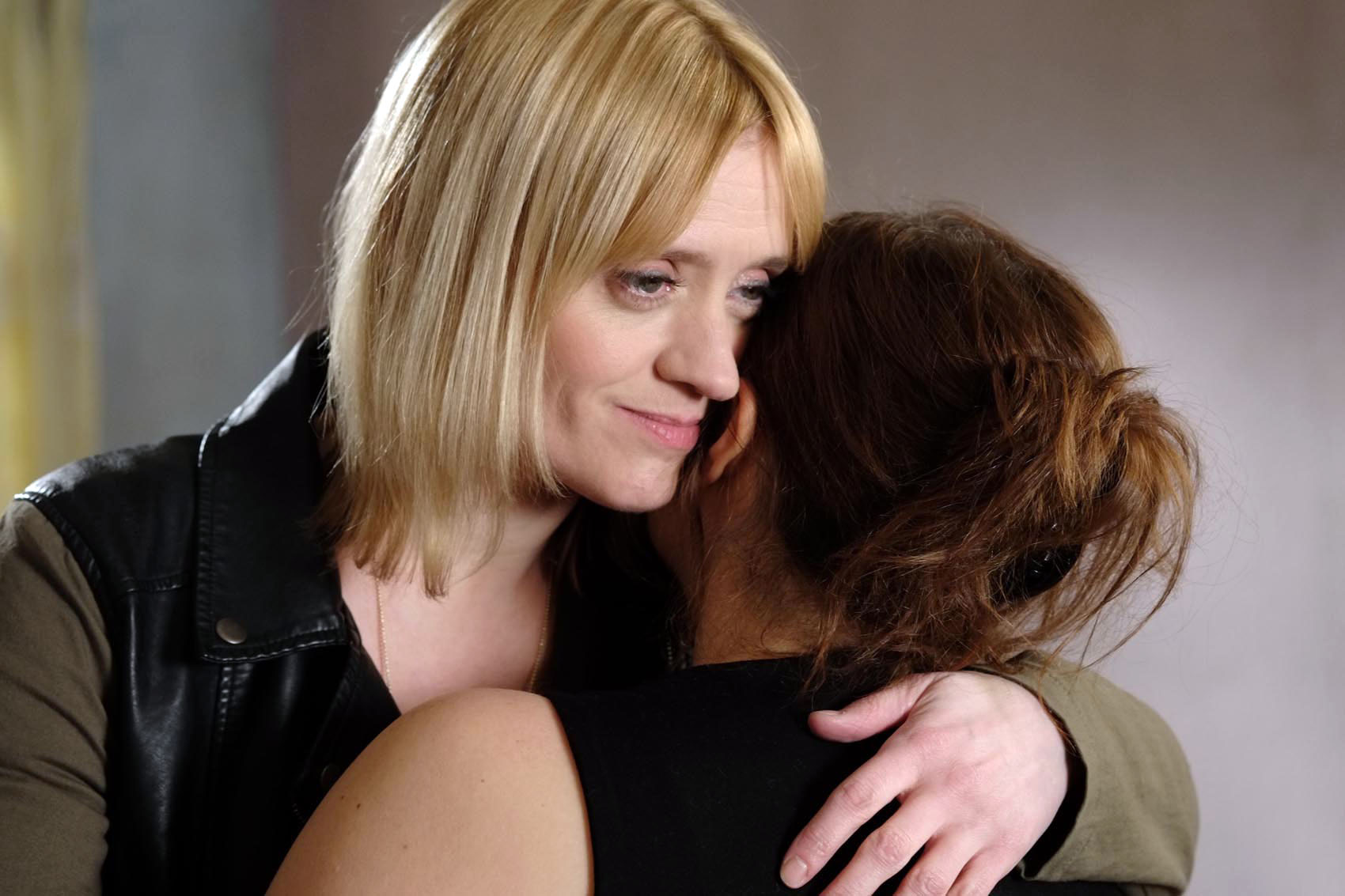Anne-Marie Duff and Annabelle Apsion as Fiona and Monica on Shameless