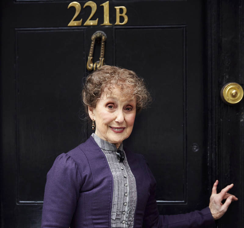 Una Stubbs as Mrs Hudson in Sherlock